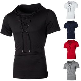 $enCountryForm.capitalKeyWord Australia - Men Hoodie Short Sleeve T-shirt Fitness Workout Gym Hooded Muscle Shirts Top