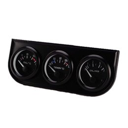 volt kit NZ - CAR 52mm Triple kit Oil Temp Gauge Water Temp Gauge Temperature Oil Pressure Gauge Sensor 3in1 Car Meter