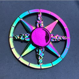 top new toys Canada - New Colorful Fingertip Gyro Zinc Alloy Decompression Toy Hand Spinner Finger Gyro Factory Wholesale Spinning Top 20pcs lot