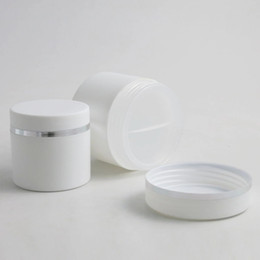 $enCountryForm.capitalKeyWord Australia - Free shipping 50ML 1.7OZ Empty Double Wall White Round Cream Jars Plastic Containers with Dome Lid