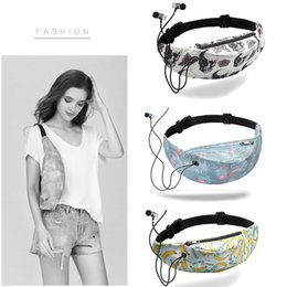Chinese  Running Bag Earphone Hole Fashion Camping Waist Bags Satchel Tourism Headset on Foot Run Polyester Fiber Mountaineering manufacturers