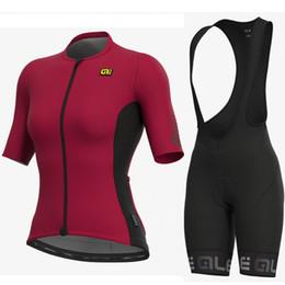 $enCountryForm.capitalKeyWord NZ - ALE team Cycling Short Sleeves jersey bib shorts sets Summer women Comfortable Wearable 9D gel pad Outdoor Sports Jersey Set