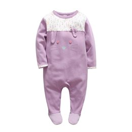 $enCountryForm.capitalKeyWord UK - 2018 Newborn wholesale girls clothes christmas baby rompers Floral baby overalls winter foot ie cartoon rabbit baby