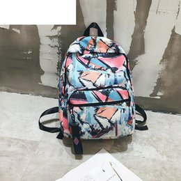 $enCountryForm.capitalKeyWord Canada - good quality Print Design Backpack For Female Large Capacity Fashion Rucksack For Women Nylon Material Preppy Style Backpack