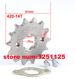 atv plate UK - 420 16 Tooth 20mm ID Front Engine Sprocket with Retainer Plate Locker For SSR PitsterPro YCF Pit Dirt Bikes ATV Quad