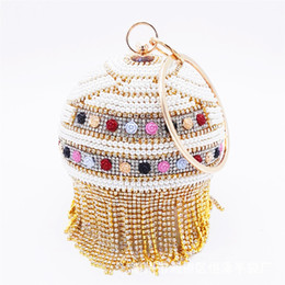 $enCountryForm.capitalKeyWord Australia - Woman evening Cosmetic bag Lady tote handbag Circular Clutch shoulder cross baby bag desinger for wed banquet party Rhinestone dress bag