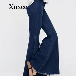 Discount jeans for skinny legs - 2020 Fashion Skinny Jeans Women Stretch Female Flare Boyfriend Jeans For Women Wash Denim Plus Size Black Wide Leg vinta