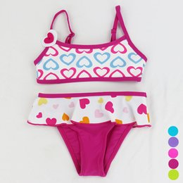 $enCountryForm.capitalKeyWord Australia - Baby Infant Swimwear Swimsuit Bikini Swim Suit Two Pieces Cartoon Costume Tankini Bathers Dress Beachwear For Child 5 Colors