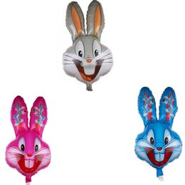 $enCountryForm.capitalKeyWord UK - 2019 New Kid Toys Animal Foil Balloons Cute Rabbit Bunny Balloons For Birthday Party Decoration