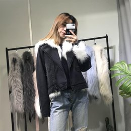 Inner Belt Australia - Charm2019 Cool Ouyang Nana With Arctic Fox Gross Skin Leather And Fur Cowboy Short Fund Loose Coat Woman Removable Rex Rabbit's Hair Inner T