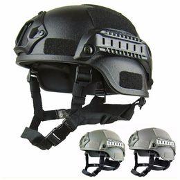 Ingrosso Qualità Leggero Casco VELOCE Casco Tattico MH Airsoft Gear Paintball Testa Protettiva per CS SWAT Equitazione Caccia Spara Proteggi