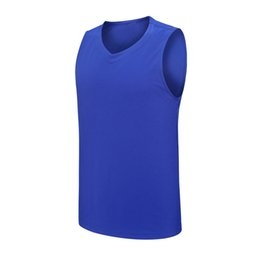 $enCountryForm.capitalKeyWord NZ - Hot Football quick-drying jersey running soccer training suit Sport sleeveless t shirt Solid Color tight vest polyester workout clothes 14