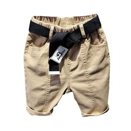 $enCountryForm.capitalKeyWord Canada - 2019 new Summer kids designer clothes boys Shorts belts Kids Casual Pants casual boys pants children clothing boys clothes Cross-pants A5316