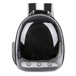 car totes UK - Portable Pet Carrier Space Capsule Backpack Dog&Cat Bubble Carriers Traveler Bag For Cats Small Dogs Breathable Design Space Capsule Cat-car