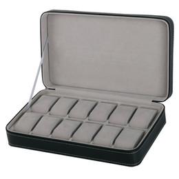 $enCountryForm.capitalKeyWord Australia - 2 6 10 12 Girds Leather Carbon Fiber Watch Box Jewelry Storage Box Organizer For Earrings Rings Bracelet Display Holder Case