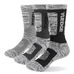 Wholesale warm winter men casual socks for sale – custom Brand Pairs Men Winter Warm Cotton Cushion Comfortable Casual Breathable Sports Cycling Hiking Runing Crew Dress Socks
