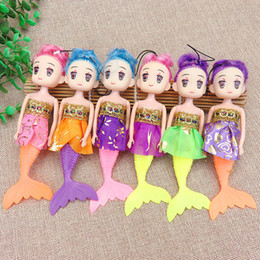 girls doll confused NZ - Mermaid Doll Car Hanging Drop Cartoon Girl Bag Decoration School Gift Baby Key Chain Pendant PVC Soft Confused Baby Doll Key Chain Decor