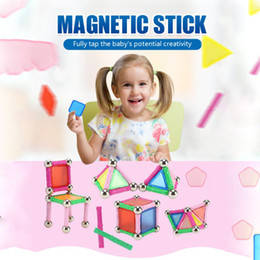 magnetic blocks educational Australia - Magnet Building Block Children's Magnetic Stick Toys Bars Metal Balls Set Educational Toys For Children DIY Construction Sets