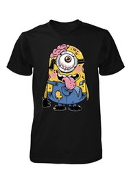 funny adult cartoons NZ - BNWT ZOMBIE MINION CARTOON COOL DEAD YELLOW BANANA ADULT T SHIRT S-XXL Funny free shipping Unisex Casual tee gift