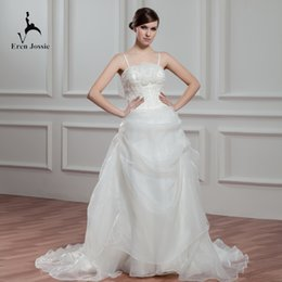 $enCountryForm.capitalKeyWord Australia - Eren Jossie Modern Design Ivory Organza Thin Straps Bridal Gowns with Beaded Embroidery Wedding Dress 2019