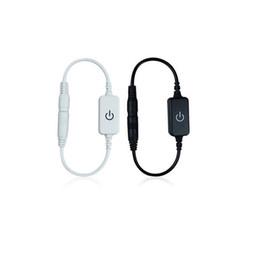 $enCountryForm.capitalKeyWord Australia - Mini LED Dimmer Switch Controller Touch DC 12-24V For 5050 3528 Single Color Led Strip light Adjust Brightness Black White