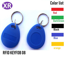 Rfid Reader Tags Canada - ABS 8# 13.56mhz Compatible Mifare s50 RFID Keyfob Read And Write Access Control IC Card Reader Key Tag F08 Token Electronic Lock Key Chain