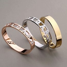AmAzing brAcelets online shopping - Amazing quality designer jewelry women bracelets stainless steel tone bangle pave shiny crystal bracelet color no fade