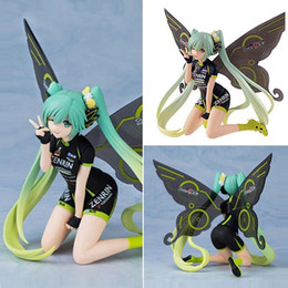 racing miku figure Australia - 13cm Anime Hatsune Miku Racing Butterfly Hatsune Miku PVC Action Figure Collectible Model Toy Brinquedos Kids Toys Juguetes