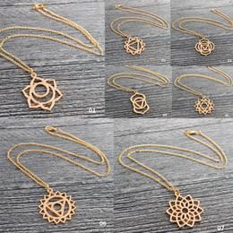 $enCountryForm.capitalKeyWord Australia - Lotus Necklace Sacred Geometry Reiki Healing Necklace Yoga For Women Jewelry #273329