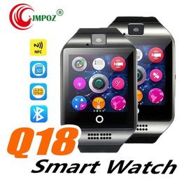 russian smart watches Australia - Q18 Smart Watch 1.54 inch 2.5D IPS Touch Screen SIM Card TF Card Camera Bluetooth smartwatch for Android and IOS Smartphone