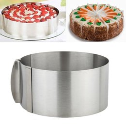 cake ring set Australia - Adjustable Hot Sale Retractable Stainless Steel Circle Mousse Ring Baking Tool Set Cake Mould Mold Size Adjustable Bakeware T200523