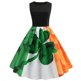 d398f3ae9129 Summer Dress Women St Patrick's Day Sleeveless Casual Party Prom Swing Dress  Ladies Vintage Vestidos Drop Shipping #15