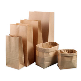 $enCountryForm.capitalKeyWord Australia - 10pcs Kraft Paper Bag Breakfast Sandwich Bread Bags Snacks Small Gift Packing Brown Paper Bag Candy Nuts Baking Package
