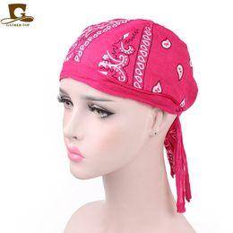 Scarf wrap topS online shopping - 12 Colors Fashion Casual Paisley Patter Kerchief Wrap Head Scarf Bandanas MTB Pirate Beanies Headwarp Hair Accessory CCA11475
