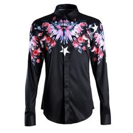$enCountryForm.capitalKeyWord NZ - Men s Shirt Short Sleeve New Trends Flowers Print Comfortable Breathable Men s Shirt Short Sleeve