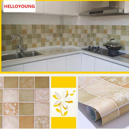 $enCountryForm.capitalKeyWord Australia - PVC Private Kitchen oil-proof Self-adhesive Mosaic Tile Style Bathroom waterproof Matte Surface Wallpaper Wall Sticker
