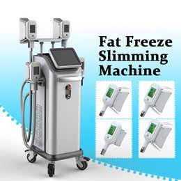 Machine Shape Australia - Cryolipolysis fat freezing machine cold body shaping cryolipolysis fat cell slimming 4 cryo handles home device