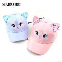 347e9c36dea MAERSHEI Children Baseball Cap Girls Snapback Hip Hop Caps Cat Ear Kids Sun  Hat Spring Summer