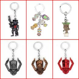 Rocket pendants online shopping - Guardians of the Galaxy Keychain Guardians of the Galaxy Action Figure Pendant Rocket Raccoon Mini Metal Model Key Chains Gift