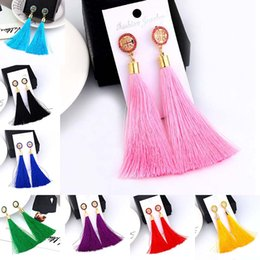 80f7bf36e7f Nova Moda de Luxo de Cristal Borla Brincos para As Mulheres Menina Festa de  Casamento Charme Elegante Vermelho Longo Brinco Presente Da Jóia navio da  gota