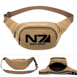 $enCountryForm.capitalKeyWord UK - Mass effect waistpacks N7 player waist bag ME1 game belt side packs Khaki color canvas bum pocket Outdoor sport waistbag