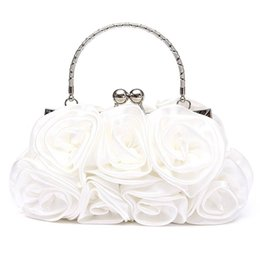 $enCountryForm.capitalKeyWord NZ - Floral Ladies Clutch Bag Women Evening Party Bag Prom Bridal Diamante Baguette