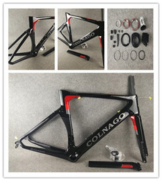 carbon fiber bicycle bikes NZ - Colnago CONCEPT Road bike Frame full carbon fiber bicycle frame Red with BB386 Frame+ Seatpost+ Fork+ Clamp+ Headset