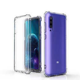 Free Cellphone Cases Australia - For xiaomi 9 and 9 SE shockproof transparent TPU cellphone case with four corners and free shipping