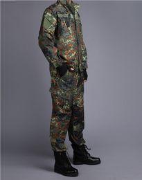 Hunting Camouflage Jacket Australia - GERMAN ARMY WOODLAND CAMO Suit ACU BDU Camouflage Suit sets CS Combat Tactical Paintball Uniform Jacket & Pants
