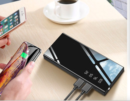 $enCountryForm.capitalKeyWord Australia - 10000mAh Power Bank External Battery Bank Dual USB Output Fast Charger Mirror Display Quick Charge Powerbank portable charger