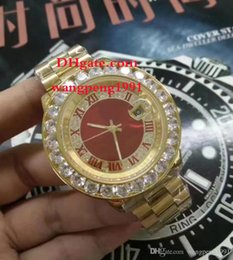 Discount mens red diamond watch - 8 Style men high quality watch 44mm 126333 126334 116234 Red Dial Rome Diamond inlay bezel Automatic Mens Watch Watche