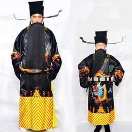 0c183865a61fa Chinese ancient minister outfit Drama costume Oriental art stage wear  classical Opera clothes hanfu male festival performance apparel