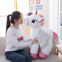 $enCountryForm.capitalKeyWord Australia - 1pc 50 60 90cm Kawaii Unicorn Plush Toys Giant Stuffed Animal Horse Toys For Children Soft Doll Home Decor Lover Birthday Gift J190717