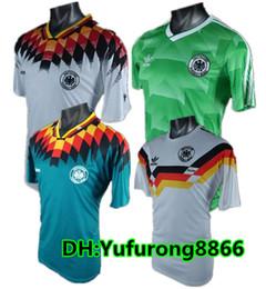 27f12ff43d1 1990 1994 1988 Alemanha Versão retro VINTAGE CLASSIC Camisola de futebol  KLINSMANN 18 Matthias 10 em casa agora 2018 camisas JERSEY S-XL